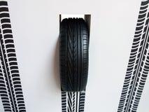 标记轮胎 免版税库存图片