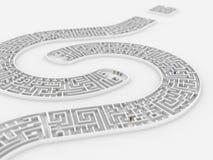 标记迷宫问题 免版税库存图片