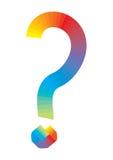 标记问题彩虹向量 免版税库存图片
