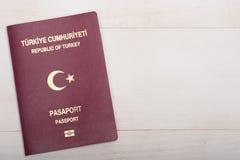 标记页护照土耳其签证 免版税库存照片