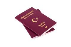 标记页护照土耳其签证 图库摄影