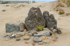 标记Foo纪念品石头 免版税库存照片