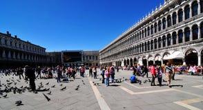 标记s方形st威尼斯 免版税库存照片