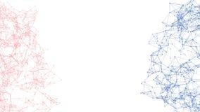 标题文本的抽象移动的背景在中心 2016年acolor混合蔷薇石英和平静小点连接用线  库存例证