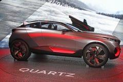 标致汽车在2014年巴黎汽车展示会的石英概念 免版税库存图片