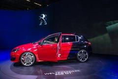 标致汽车308个GTI -全球首演 免版税库存图片