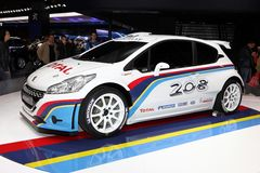 标致汽车208个WRC 免版税库存照片