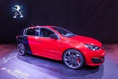 标致汽车308在IAA的GTi 2015年 免版税库存照片