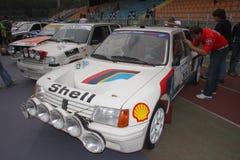 标致汽车205涡轮16赛车 图库摄影