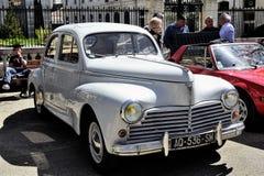 标致汽车203被制造从1948年到1960年 免版税图库摄影