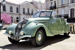 标致汽车302被制造从1936年到1938年 免版税库存照片