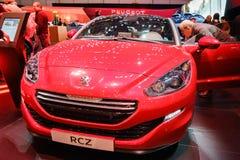 标致汽车RCZ,汽车展示会日内瓦2015年 库存图片