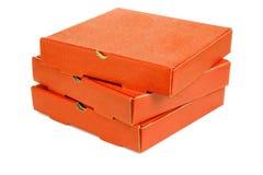 栈三个薄饼饭菜外卖点配件箱 免版税库存照片