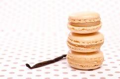 栈三macarons用香草 图库摄影