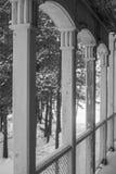 栈桥在冬天 免版税库存图片