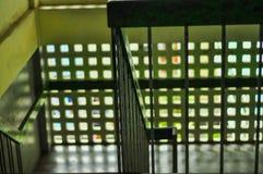 栏杆和台阶 免版税库存照片