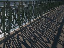 栏杆的阴影样式 库存图片