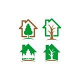 树上小屋传染媒介商标 免版税库存图片