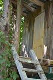 树上小屋在农场的佛蒙特是乐趣 图库摄影