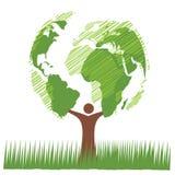 树世界绿色 库存图片