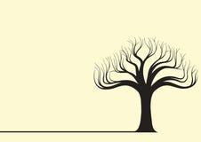 树剪影传染媒介例证 免版税库存图片