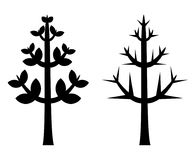 黑树剪影传染媒介 库存图片