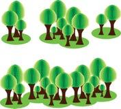 树剪贴美术 Eco公园 免版税图库摄影