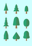 树动画片组装 免版税库存照片