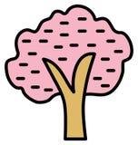 树可以容易地修改或编辑的被隔绝的传染媒介象 库存例证