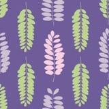 树叶子现出轮廓无缝的样式 库存照片