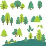 树和杉木剪贴美术 图库摄影