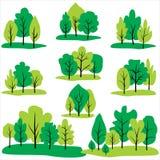 树和杉木剪贴美术 免版税库存图片