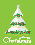 树圣诞卡vecter 免版税库存照片