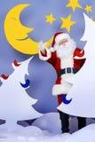 树圣诞老人 免版税库存图片