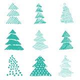 树圣诞节例证 免版税库存图片