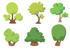 树在白色背景隔绝的传染媒介象,树商标概念 皇族释放例证