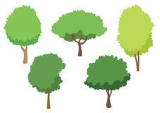 树在白色背景隔绝的传染媒介象,树商标概念 库存例证