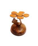树小雕象做了†‹â€ ‹木头 库存照片