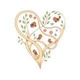 树心脏颜色 免版税库存照片