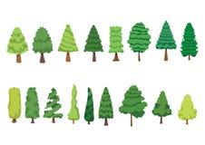 树杉木汇集隔绝的集合是新鲜的是绿色的 向量例证