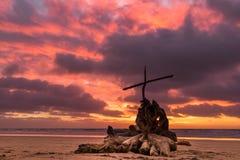树桩十字架 免版税库存照片