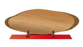 树桩有年轮的标志板材 向量例证