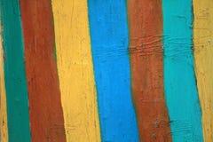 树桩被绘的明亮的色的条纹 土气样式 增殖比的盖子 库存照片