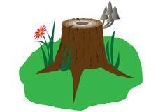树桩 库存例证