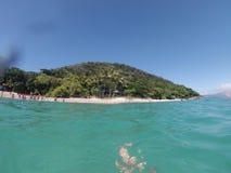 树海滩海洋天蓝色 免版税图库摄影