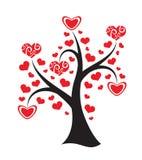 在白色背景的爱护树木。 抽象illustrati 免版税库存图片
