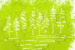 树用搽粉的绿茶 免版税库存照片