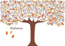 树的图表图象收藏 季节 秋天 例证 免版税库存图片