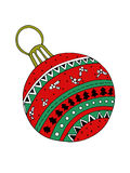 树的圣诞节玩具 库存例证