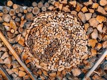 树的日志 被锯的木头 图库摄影